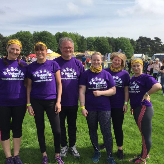 Team fromWaters and Atkinson take part in Born Survivor for Unique Kidz and Co