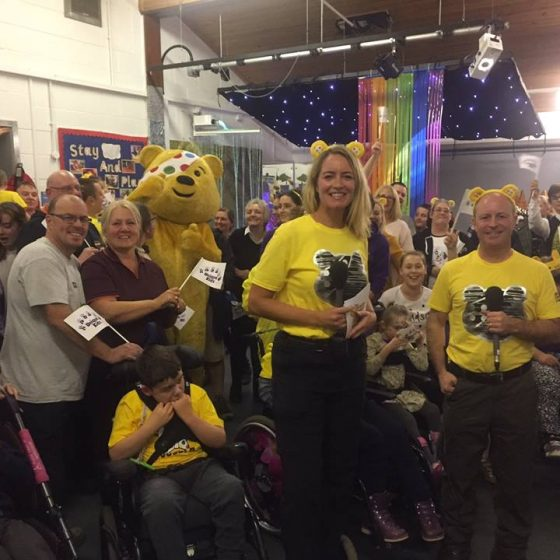 BBC North West Tonight presenters at the Plod for Pudsey Party!