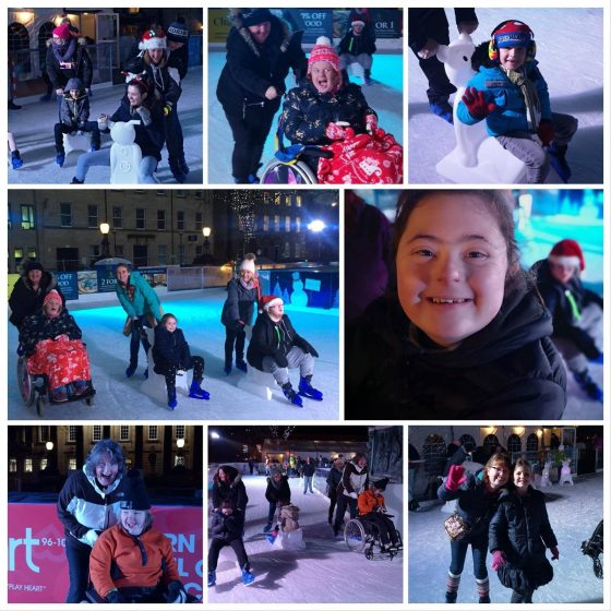 Children and Young Adults enjoy their time at Lancaster on Ice