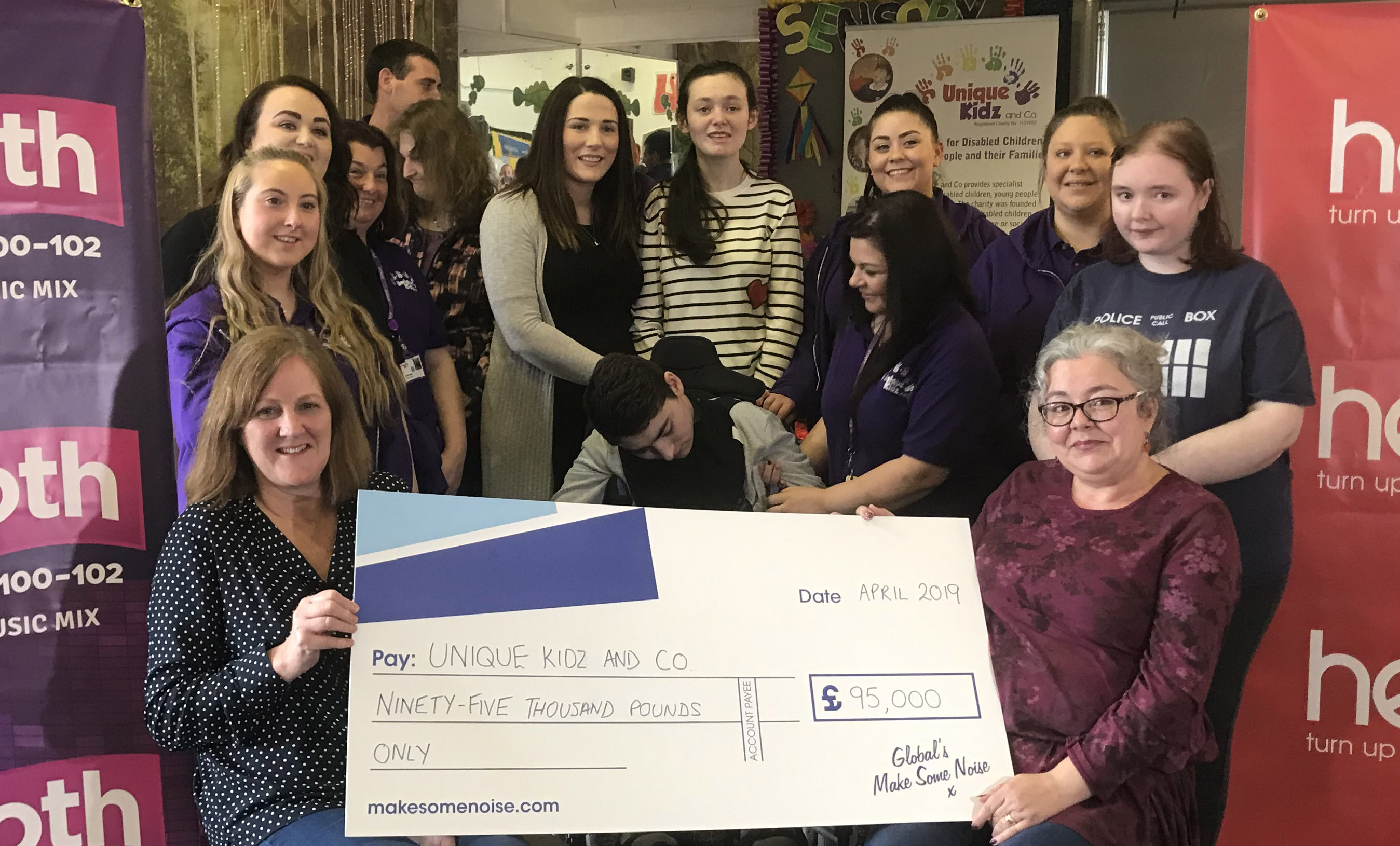 Global's Make Some Noise Cheque Presentation